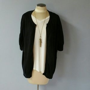 Woman Within black short sleeve sweater. Size 3X